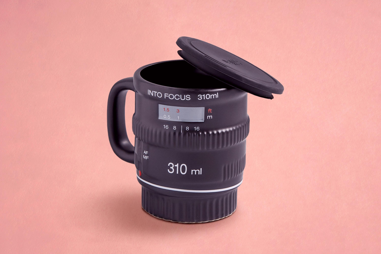 A unique camera mug for your coffee and tea